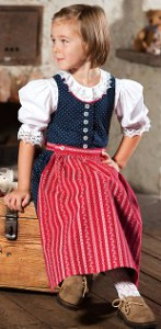 Kinderdirndl, Blaudruck