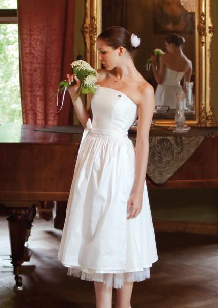Ploom Brautdirndl weiß
