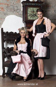 Dirndl rosa/schwarz
