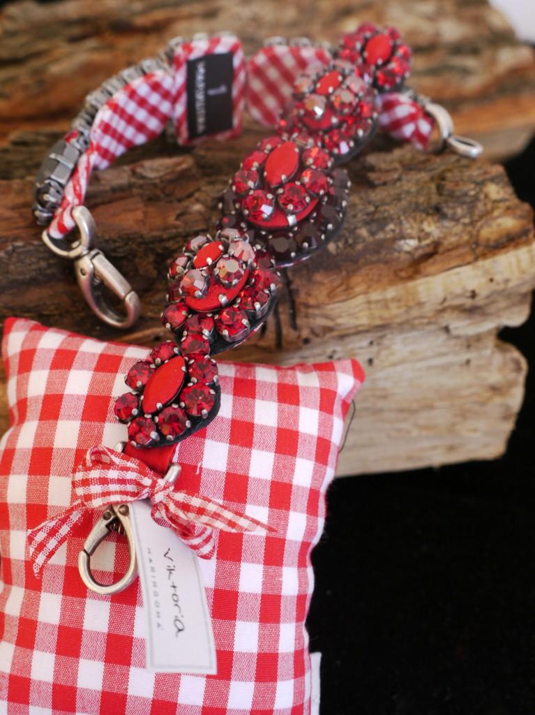 Trachten-Armband rot