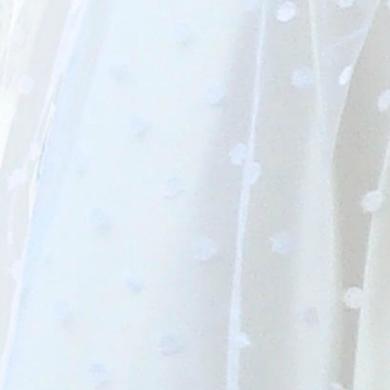 Detail - Tüll-Überrock mit Tupfen