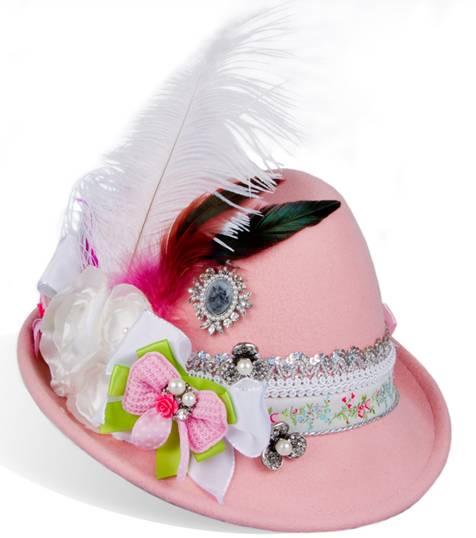 Damen Trachtenhut rosa