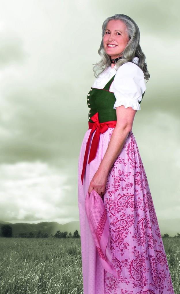 Gössl Dirndl grün/rosa mit Salzburger Leib
