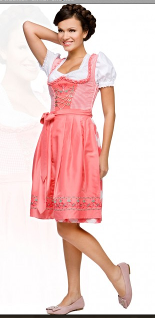 Midi Dirndl rosa